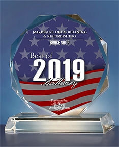 Best of McHenry 2019 award for Brake Shop
