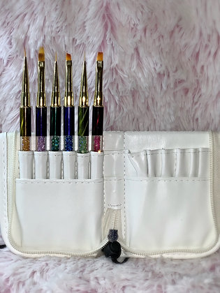 Mermaid Brush Case with Brush Set