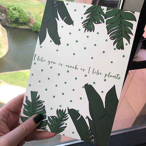 I like you as much as I like plants
