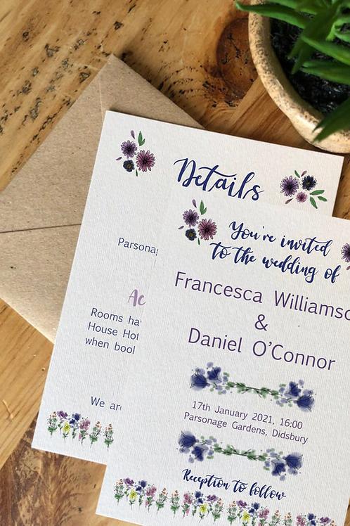 Flower Power Wedding Invitation