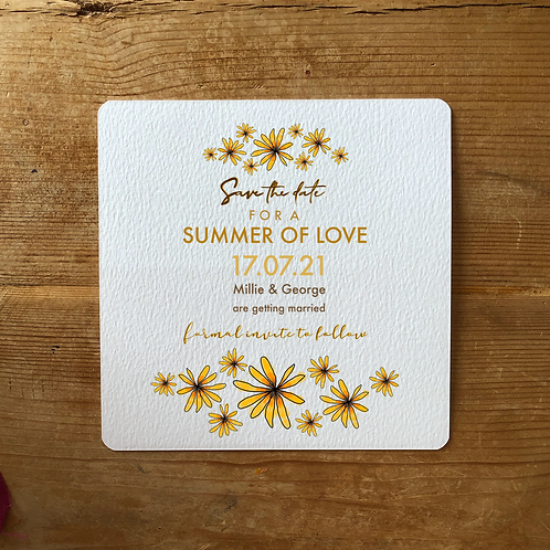 Summer of Love Save the Date Card