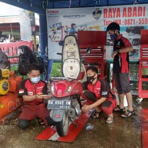 Yamaha Peduli Banjir Kalsel Buka Pos Service Gratis Sepeda Motor Semua Merek