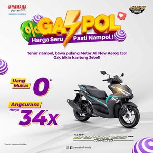 Promo Yamaha STSJ: Bawa Pulang All New Aerox 155 Connected Tanpa Uang Muka