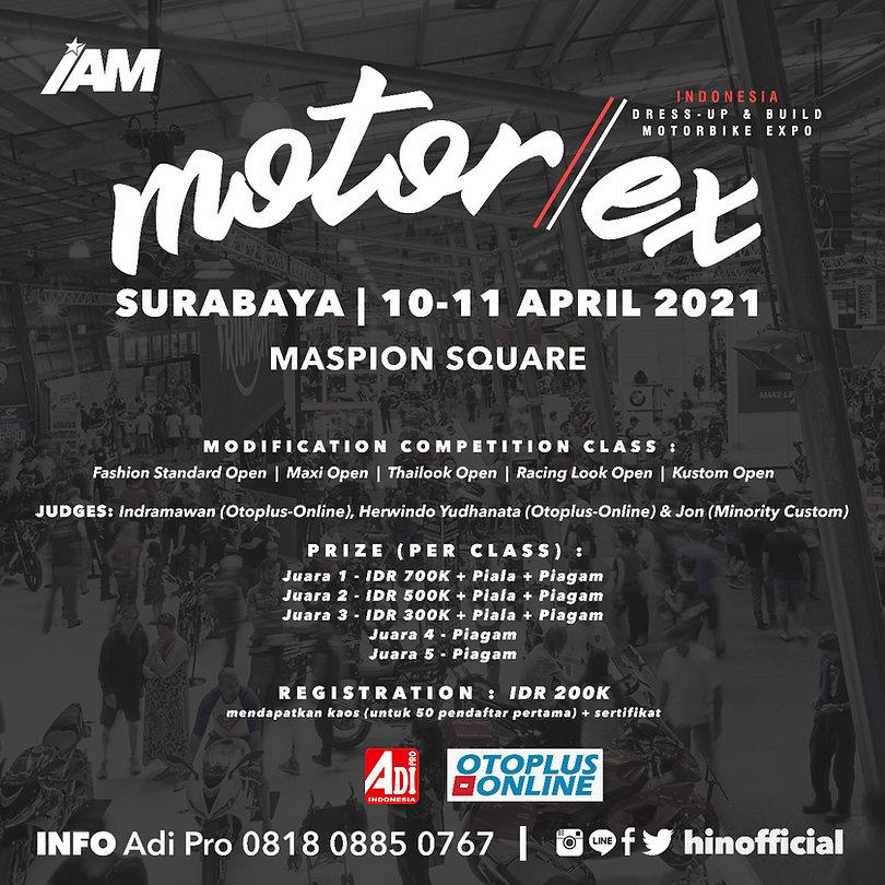 poster regulasi motobike expo (motorex)