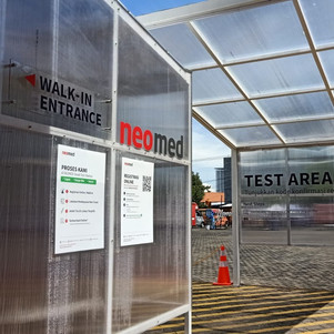 Neomed dan Yamaha Jatim Sediakan Drive Thru Swab Test