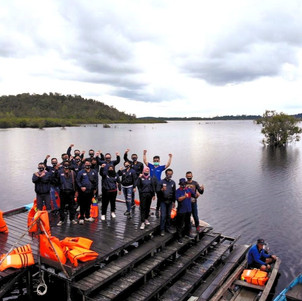 Wisata Danau Laet, Pontianak Sambil Buktikan Tangguh dan Iritnya Skutik Yamaha