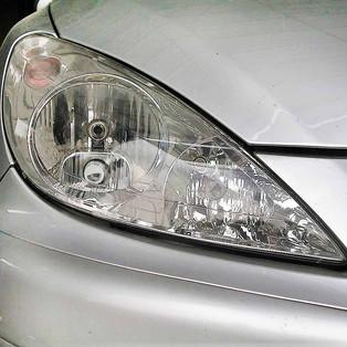 Reflektor Headlamp Peugeot Lawas Menguning
