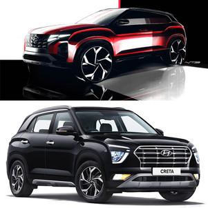Hyundai Rilis Sketsa Creta yang akan Diproduksi di Indonesia