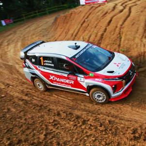 Kejurnas Sprint Rally 2021 Putaran 2: Mitsubishi Xpander Rally Team Hadapi Tantangan Berat