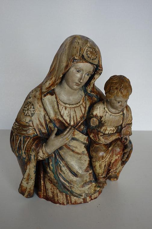Restauration vierge à l'enffant Bourgogne XVIIe siècle