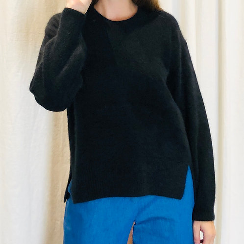 Pull col rond noir - CT Plage