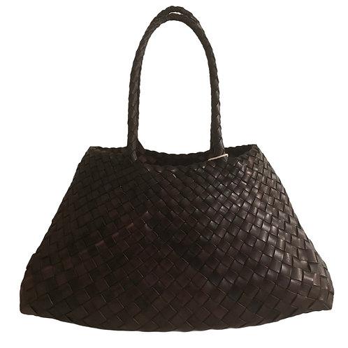 Sac Santa Croce big coloris dark brown - Dragon bags Diffusion