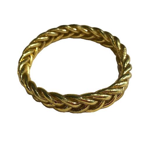 Bracelet bouddhiste tressé or