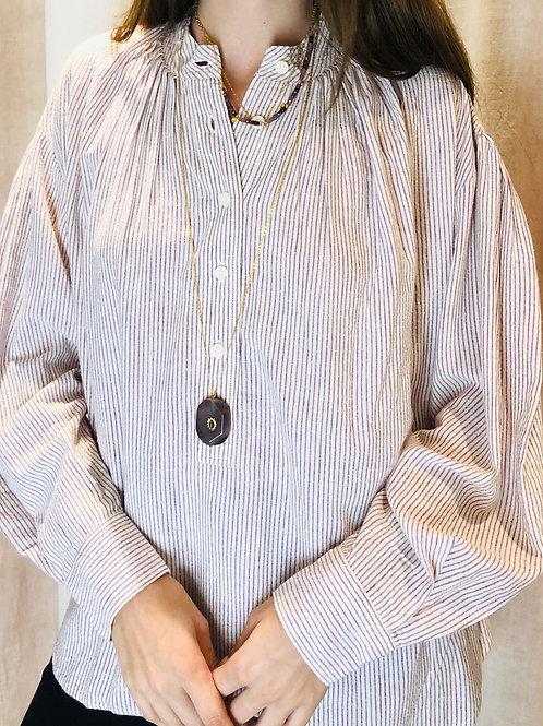 Chemise Pumkin wine stripes - Laurence Bras