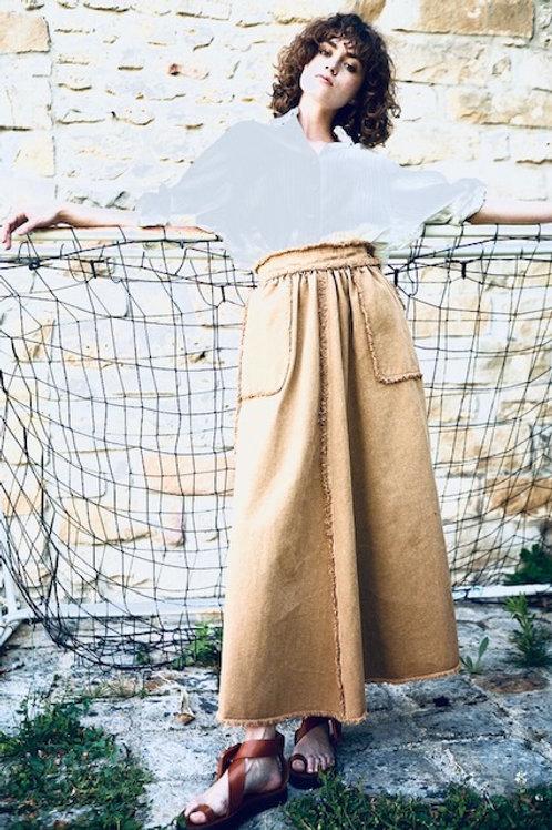 Jupe bonbon beige - Laurence Bras