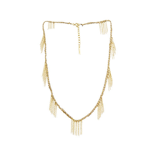 Collier gold grey - Marie Laure Chamorel