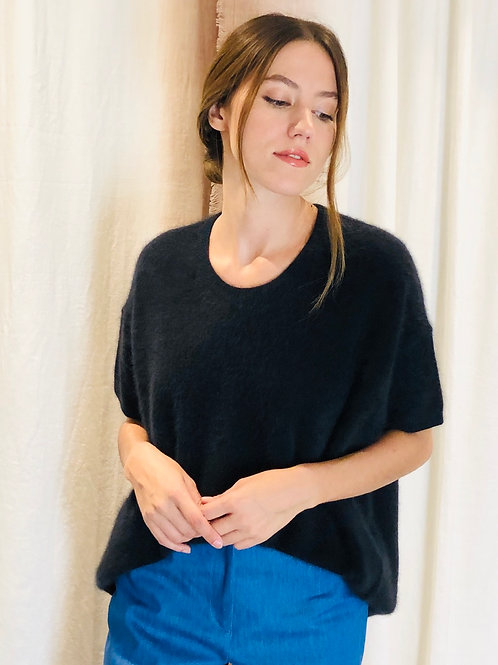 Pull manches courtes BLACK NAVY - CT Plage