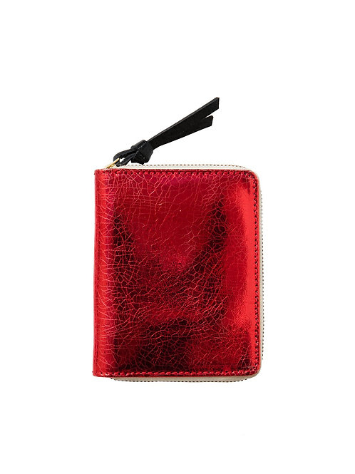 Porte feuille red crackle - Sophie Cano