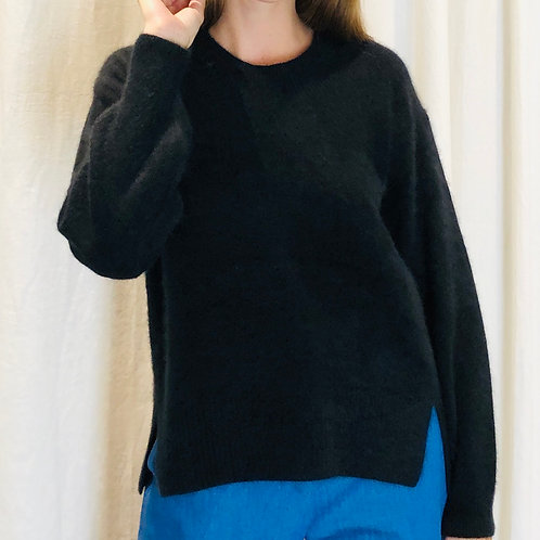 Pull NOIR col rond - CT plage