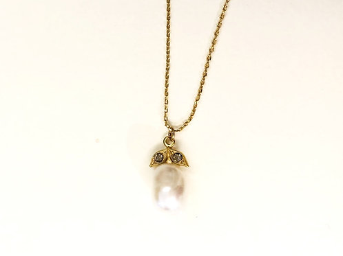 Collier Echo perle blanche - Hanka In