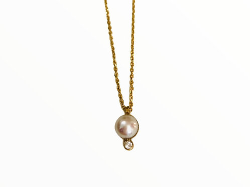 Collier bound perle blanche - Hanka In