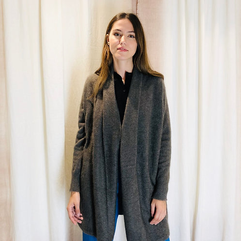 Manteau veste GREY BROWN raccoon - C.T. Plage