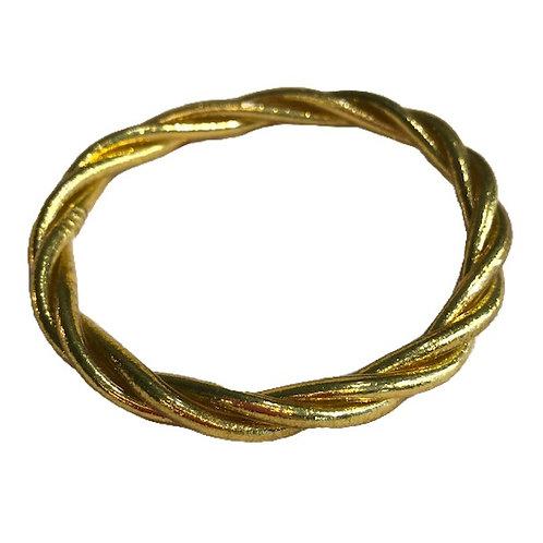 Bracelet bouddhiste torsadé or