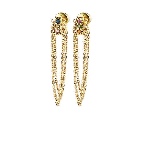 Boucles d'oreilles dorées - Marie Laure Chamorel