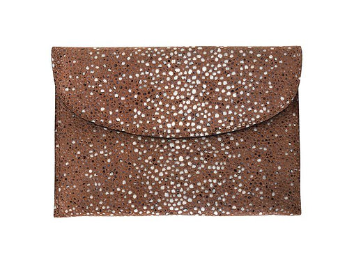 Pochette carré d'or XS impression galuchat sierra - Linde Gallery St Barth