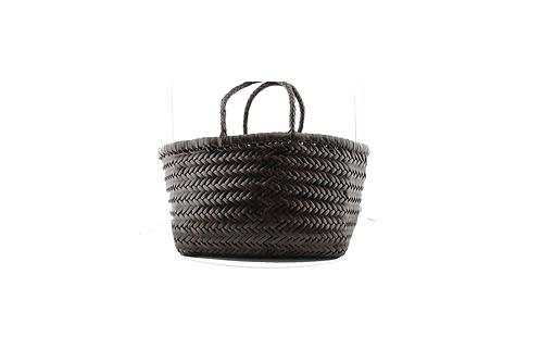 Sac cuir tressé bamboo triple jump small brown - Dragon bags Diffusion