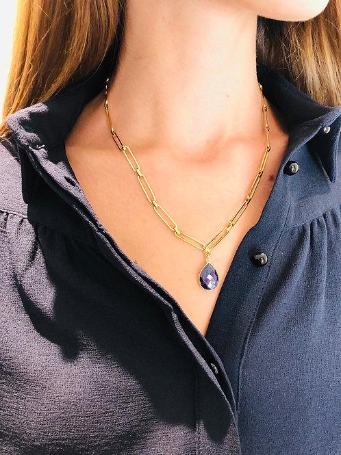 CollierJaia lapis lazuli - Sélection Joée