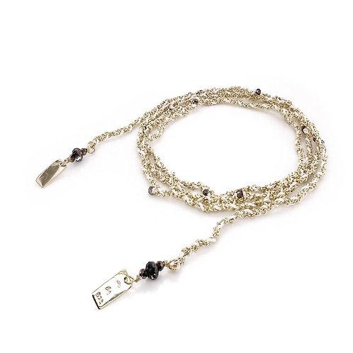 Bracelet ou sautoir gold white - Marie Laure Chamorel