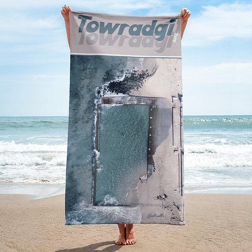 Towradgi Pool aerial beach towel (retro style)