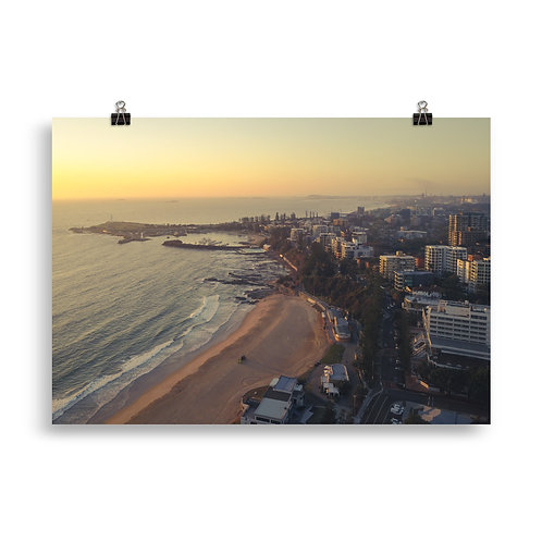 Print (unframed) - North Wollongong Sunrise (Aerial)