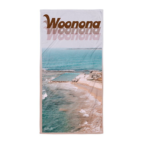 Woonona Pool beach towel (retro style)