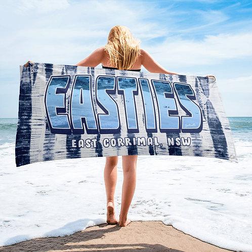 """East Corrimal """"EASTIES"""" striped image beach towel"""