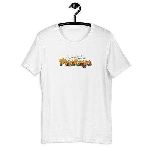 Puckeys. Adventure awaits - Short-Sleeve Unisex T-Shirt