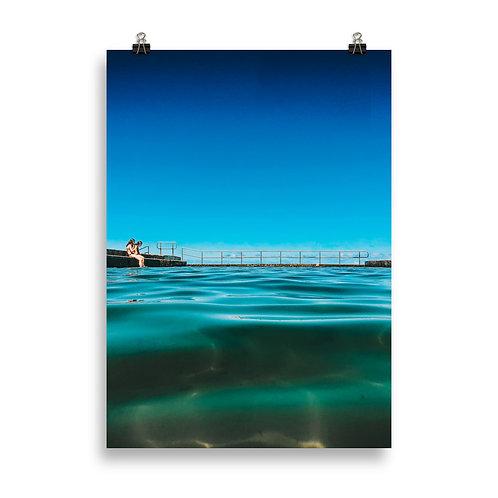 Print (unframed) - Austinmer Baths at Austinmer Beach blues