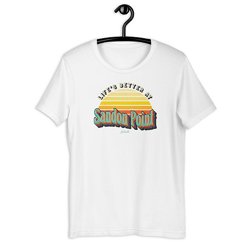 Life's better at Sandon Point - Retro Sunrise - Short-Sleeve Unisex