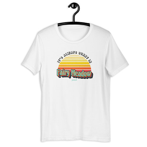 It's always Sunny in Fairy Meadow - Retro Sunrise - Saltcalls Unisex T-Shirt