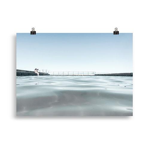 Print (unframed) - Austinmer Baths at Austinmer Beach (light)