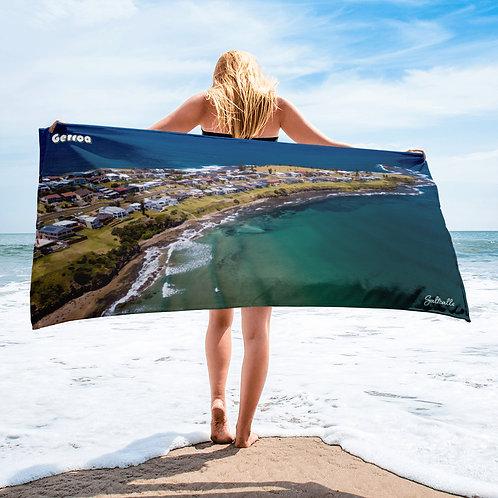 Gerroa headland beach towel