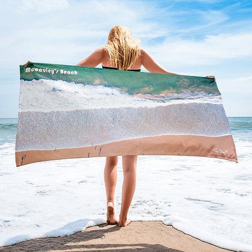 McCauley's Beach beach towel