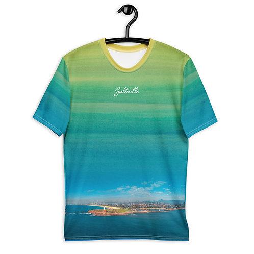 Wollongong Harbour Aerial - Saltcalls All Over Print - Men's T-shirt
