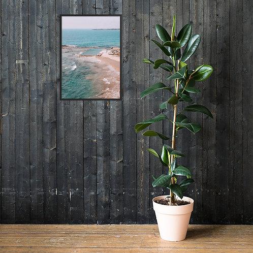 Woonona Rock Pool | Framed matte paper print