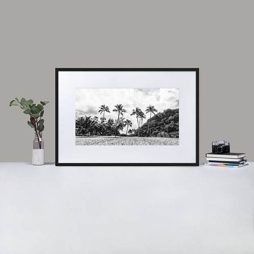 Waimea Bay, Hawaii | Matte Print Framed Poster With Mat