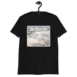 Bellambi faded aerial image Short-Sleeve Unisex T-Shirt