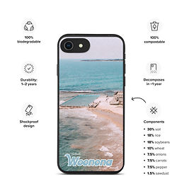 Biodegradable iPhone case - Woonona Pool