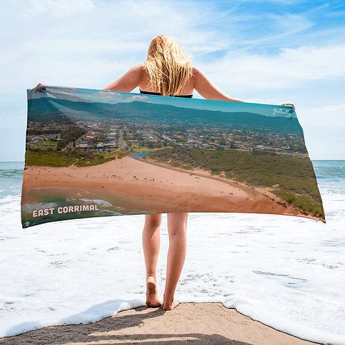East Corrimal summer aerial image beach towel
