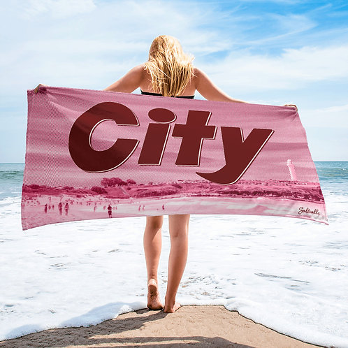 City Beach - Colourised beach towel
